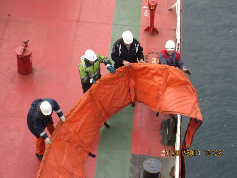 Учение по ликвидации аварийных разливов нефти