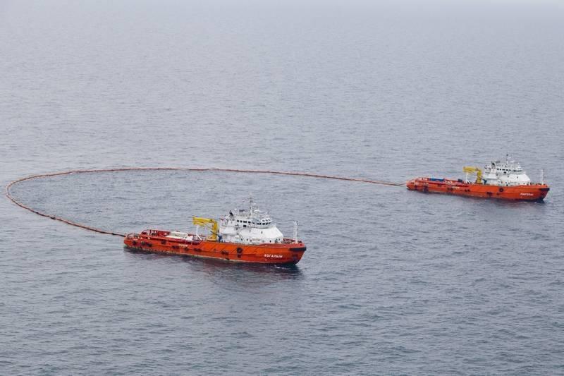 Учение в северной части Каспийского моря и в районе 148 км ВКМСК