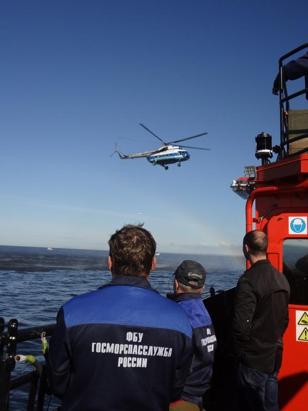 Бассейновое учение по поиску и спасанию людей терпящих бедствие в ПСР Архангельск