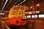Спущено на воду аварийно-спасательное судно «Балтика»