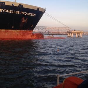 комплексное учение у причала ООО  «СИБУР- Портэнерго» в морском  порту Усть- Луга