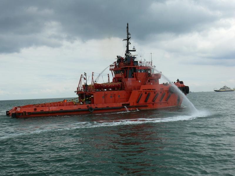 Комплексное учение по ликвидации последствий морской аварии пассажирского парома в Керченском проливе