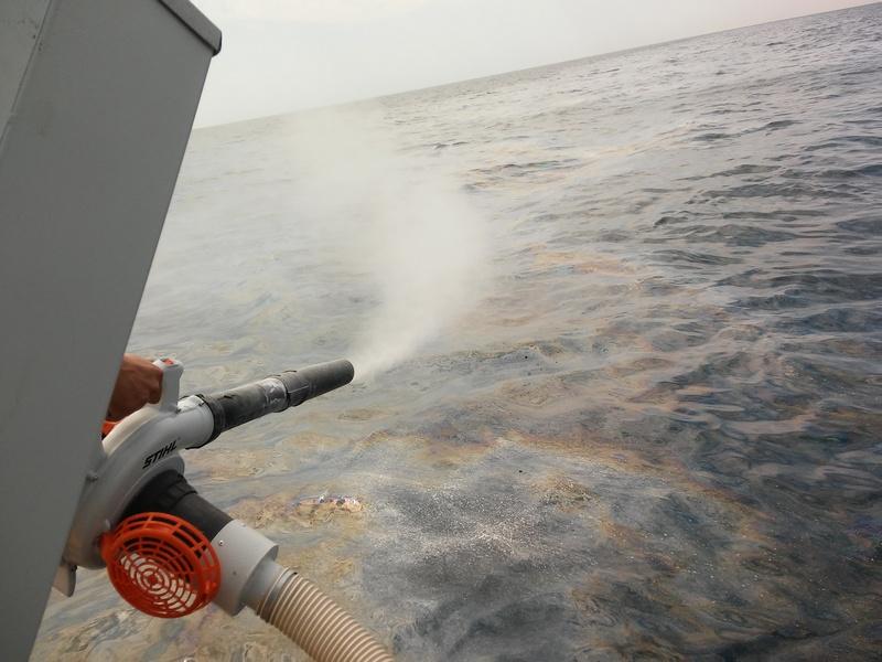 Операция по ликвидации загрязнения нефтепродуктами в акватории порта Новороссийск.