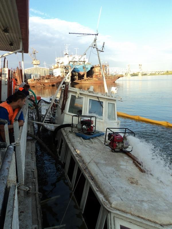 Аварийные судоподъемные работы на т/х «Нобель»