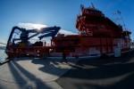 На Многофункциональном аварийно-спасательном судне «Берингов пролив» в присутствии заместителя Председателя правительства Российской Федерации Аркадия Дворковича поднят государственный флаг Российской Федерации.