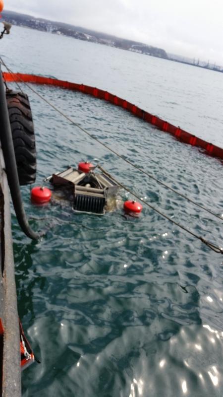 На акватории морского порта Корсаков проведено совместное комплексное учение