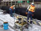 Ликвидация разлива нефти у причала № 45 Владивостокского морского рыбного порта