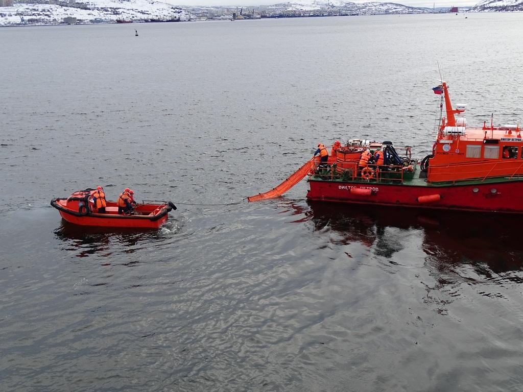 Учение в Кольском заливе на акватории морского порта Мурманск