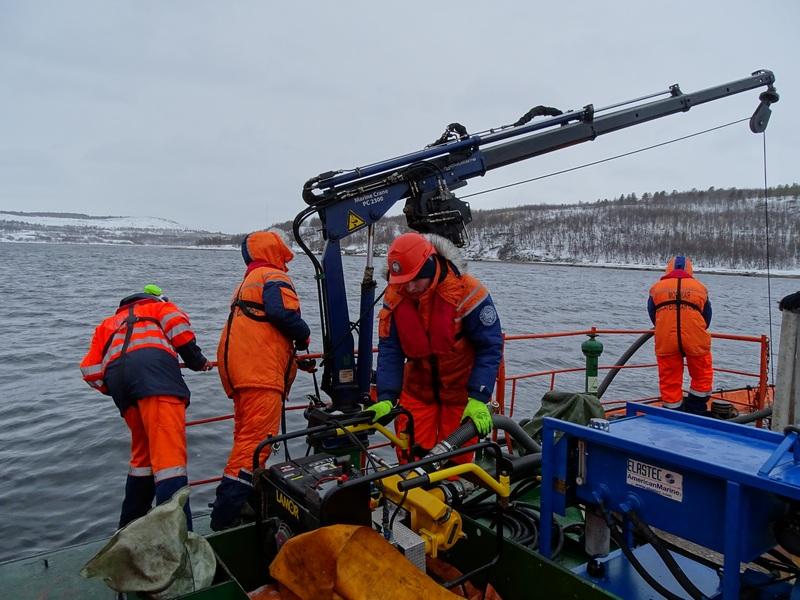 V Российско-Норвежское учение в Кольском заливе на акватории морского порта Мурманск.
