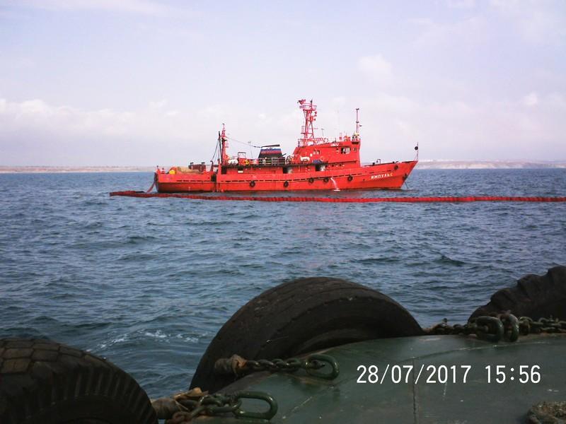 На акватории морского порта Кавказ было проведено комплексное учение