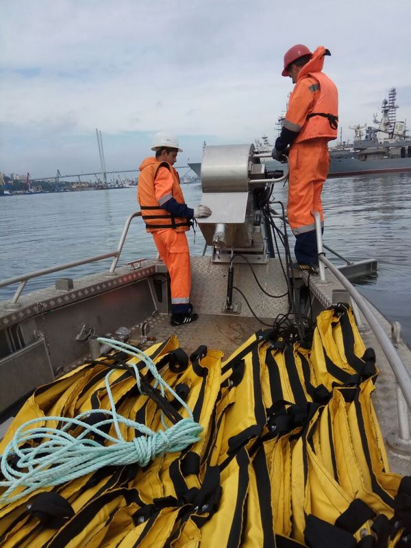 На  акватории морского порта Владивосток проведено совместное  комплексное учение по ликвидации разливов нефтепродуктов
