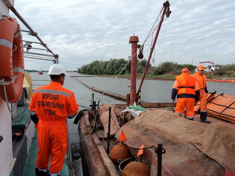 На акватории морского порта Астрахань проведено учение