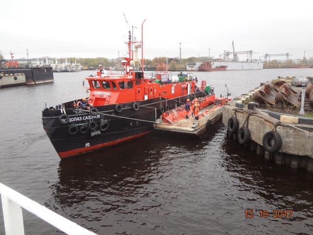 На акватории морского порта Архангельск проведено учение