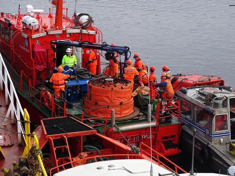 На акватории морского порта Мурманск проведено учение