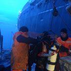 Водолазные работы на ледоколе «Адмирал Макаров»