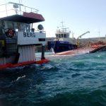 Работы по предотвращению загрязнения окружающей среда  с затонувшего т/х «Berg»