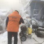 Аварийно-спасательные работы по ликвидации поступления  забортной воды в плавсекцию перехода плавдока в п.Мурманск