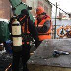Работы по освидетельствованию подводной части плавдока № ПД-4