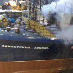 Тушение пожара на судне
