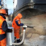 Очистка акватории на р. Волга от загрязнения нефтепродуктами