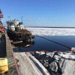 Проведение аварийно-спасательных работ на аварийном судне «МБ-1214»