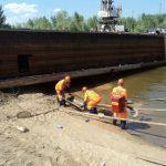 На акватории порта Астрахань ликвидировано загрязнение нефтепродуктами