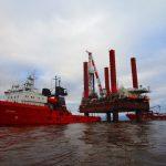 Морская буксировка самоподъёмной буровой установки судами ФГБУ «Морспасслужба»