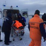 Медицинская эвакуация травмированного члена экипажа  балкера «Шандонг Фу Ху» (флаг — КНР)