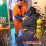 Выполнена работа по осмотру винто-рулевого комплекса судна «Балт Флот 11»