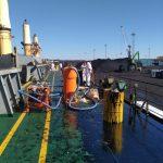 Ликвидация разлива нефтепродуктов с судна «Мазури» в порту Усть-Луга