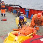 Бассейновое учение по поиску и спасанию людей на море в поисково-спасательном районе МСПЦ Южно-Сахалинск