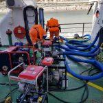 Аварийно-спасательные работы на плавкране «Черноморец-11»