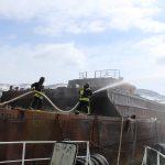 Спасатели Камчатского филиала тренировались в тушении пожара на судне