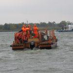 Спасатели тренировались в ликвидации разлива нефтепродуктов в порту Ростов-на-Дону